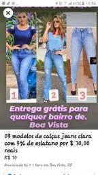 Calças jeans clara por apenas 70,00 reais entrega grátis para qualquer bairro de Boa Vista
