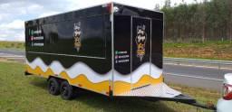 Trailer 5x2m Food Truck Top de Linha