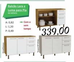 Balcão Lara e Luma para pia, promoção.