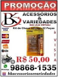 Kit Chave Manutenção Celular Notebook Pc Tablet Gps.32pcs-(Loja BK Variedades) Promoção