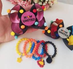 Kit Now United laço+ pulseiras