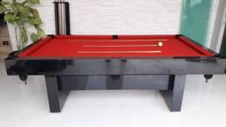 Mesa Sedução Dois Pés Cor Preta Tecido Vermelho Mod. LJZB4473
