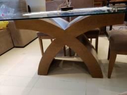 Título do anúncio: Mesa tampo de vidro