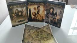 Dvd Trilogia O Senhor Dos Anéis Com Luvas e Extras Completos