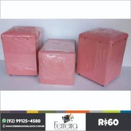 Título do anúncio: Puffs cor de rosa