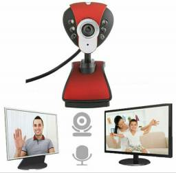 Webcam Full HD Com Microfone Para PC e Notebook