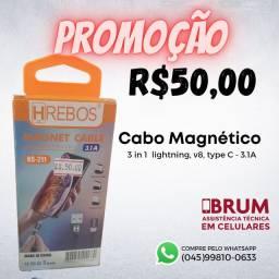 Cabo Magnético 3 in 1 para celulares