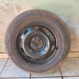 """Roda de Aço 15"""" com pneu 185/65 R15 GOL/ SAVEIRO"""