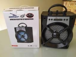 Título do anúncio: Caixa de som Grasep Db-h2013 - Bluetooth Usb Cartão Sd Rádio Fm