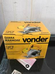 Serra Mármore Vonder 1.300W 110mm zera na caixa