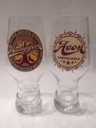 Título do anúncio: Taças IPA da Cerveja Mangifera em Cristal da Cervejaria Mineira Aeon Taça Copo Beer Bier