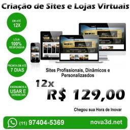 Título do anúncio: Criação de Sites e Lojas Virtuais   Profissional, Dinâmico e Personalizado