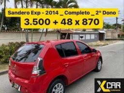 Título do anúncio: Sandero Exp 1.0  - 2014 _  Completo _ 2º Dono _ Pouco Rodado