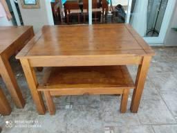Mesa de madeira com banco ( 2 tamanhos)