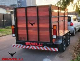 Título do anúncio: Carretinha BRAVOLLI ' PR ¤ Reboque dupla carga e linha simples em 12x