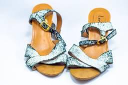 sandália salto médio tamanho 37