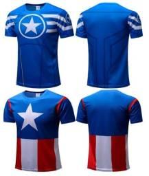 Título do anúncio: Camisas Super Heróis manga curta diversos modelos.