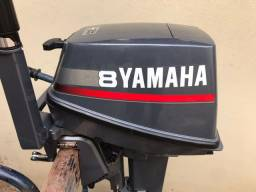 Título do anúncio: MOTOR DE POPA YAMAHA 8HP