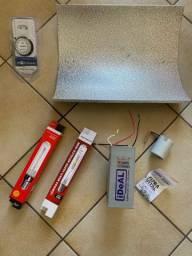 Kit iluminação grow completo(nunca usado)