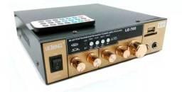 Título do anúncio: Amplificador Áudio Receiver 200w Bluetooth Som Ambiente Usb