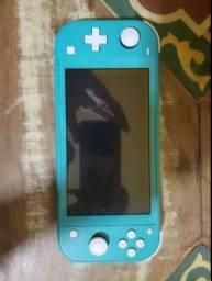 Título do anúncio: Nintendo Switch Lite Turquesa Novo c/ Bolsa e Carregador Original