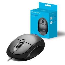 Título do anúncio: Mouse Com Fio Usb Barato Notebook Computador Pc Multilaser ? R$ 18,00