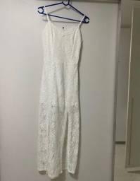 Título do anúncio: Vestido branco de renda