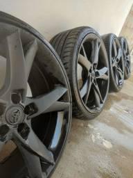 Título do anúncio: Rodas c/ Pneus Aro 19'! Preto Fosco Toyota