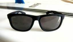 Óculos Ray-ban Modelo Justin Lentes Pretas - Armação Preta - Promoção