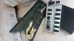 Guitarra ibanez + pedaleira gt 10 boss em otimo estado