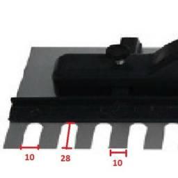 Desempenadeira Dentada Com Regulagem 35 X 12cm - Dtools