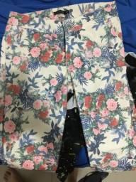 Calça florida veste 36/38