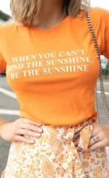 T-shirt laranja neon - P