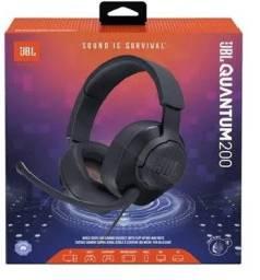 Headset Gamer Jbl Quantum 200 Preto - Loja Natan Abreu