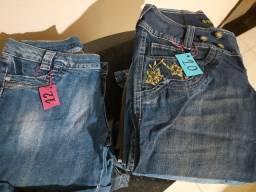 Calças bermudas e saias de várias marcas e tamanhos