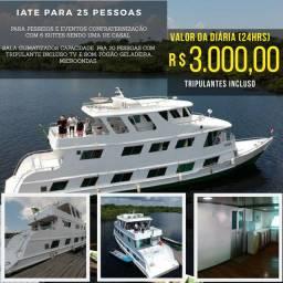 Aluguel de lanchas Barcos pra passeios e confraternizações