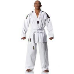Dobok para Taekwondo com faixa branca