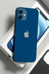 NOVO AZUL ++ IPHONE 12 DE 64 GB / VEM SER FELIZ