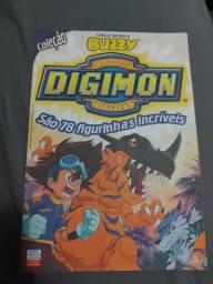 Álbum Digimon Buzzy Antigo Incompleto