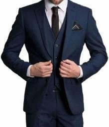 Paletó azul - ternos slim corte italiano Oxford - terno costume