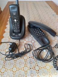 Título do anúncio: telefone s fio Siemens + 01 telefone de mesa ou parede