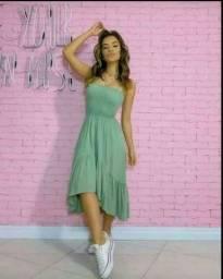 Título do anúncio: Vestido lindos tamanho único ,tecido crep valor 65 reais apenas