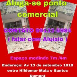 Ponto comercial na frente do banco Itaú buritiza