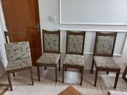 Título do anúncio: Mesa 4 cadeiras com tampo de vidro  90 X 90 cm