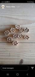 Kit 20 flores madeira 3cm