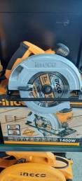 Serra circular manual 1400 watss ingco- linha industrial