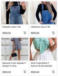 Vendo Lote de roupas Multimarcas 100 peças total