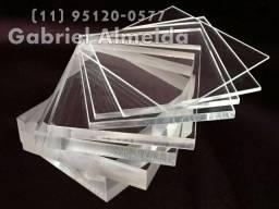 Placa acrilico transparente 1 x 2 Metros 2mm R$220,00 entrega imediata