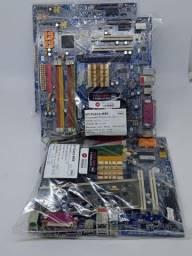 Título do anúncio: Kit Placa Mãe 775 Gigabyte Processador, Cooler, Espelho Loja fisica Curitiba