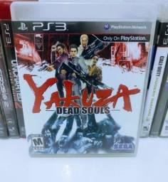 Título do anúncio: Jogo de PS 3 Yakuza Dead Souls Original Midia Física Semi Novo